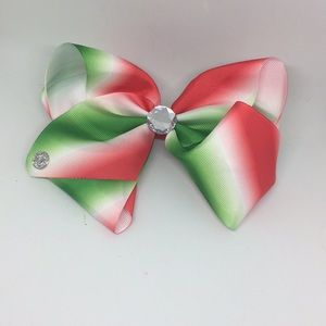 Red, white, and green Jojo Bow